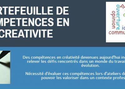 Portfolio d'évaluation des compétences en Créativité (Master IDEFI Promising UGA et USMB)