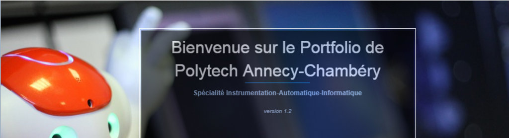 Image d'accueil du ePortfolio Polytech Annecy-Chambéry